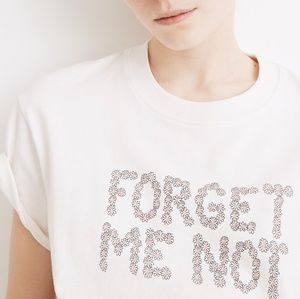 Madewell Forget Me Not Graphic Easy Crop Tee
